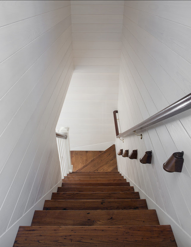Staircase. Staircase Ideas. The floors are antique chestnut, unstained with a satin tung oil. #Staircase