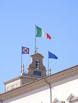 Flags ontop Palazzo del Quirinale (Rome)