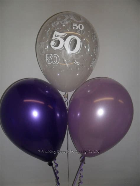 birthday party helium  air balloons clear purple