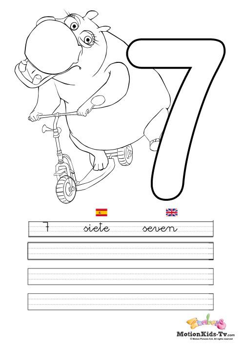 Aprender Los Números Del 1 Al 10 Fichas Educativas Para Colorear