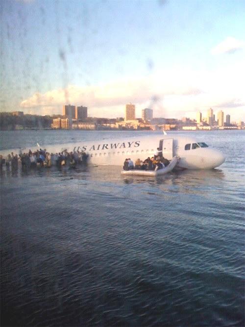 Pouso na Água do rio Hudson