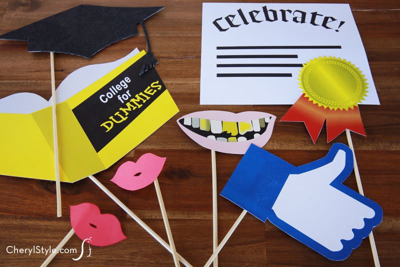 Printable Photo Booth Props Everyday Dishes