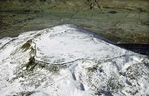 Ingleborough-Hillfort-Aerial-Snow