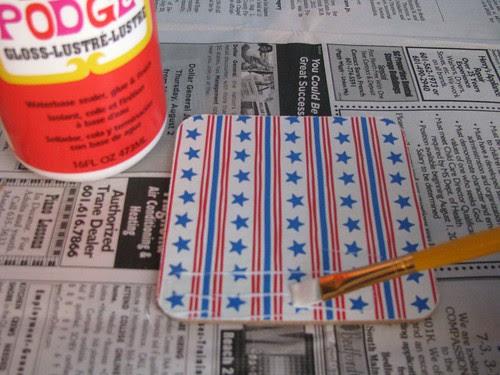 Glitter Coaster First Coat