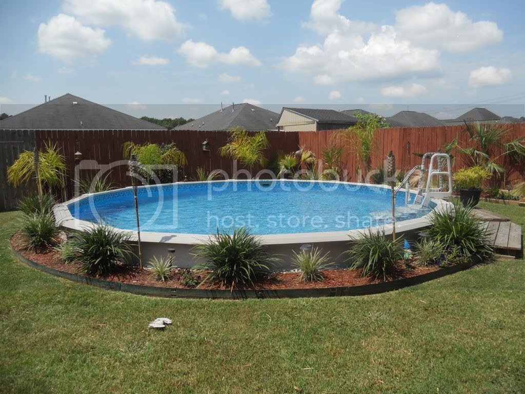 Backyard Landscaping Ideas With Above Ground Pool | Small Backyard ...