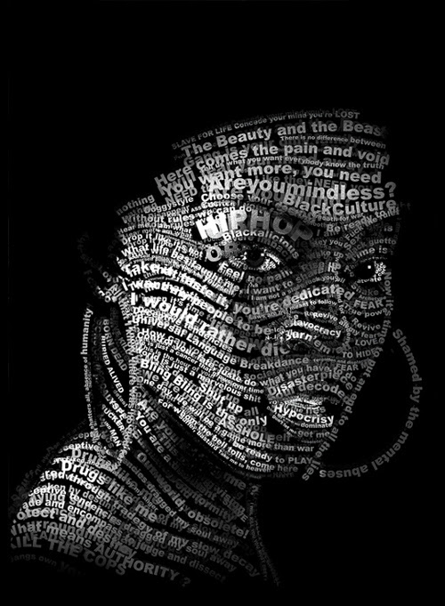 Typographic Portraits That Are Absolutely Beautiful