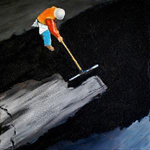 "Patchwork by Duke Windsor Acrylic ~ 18"" x 18"""