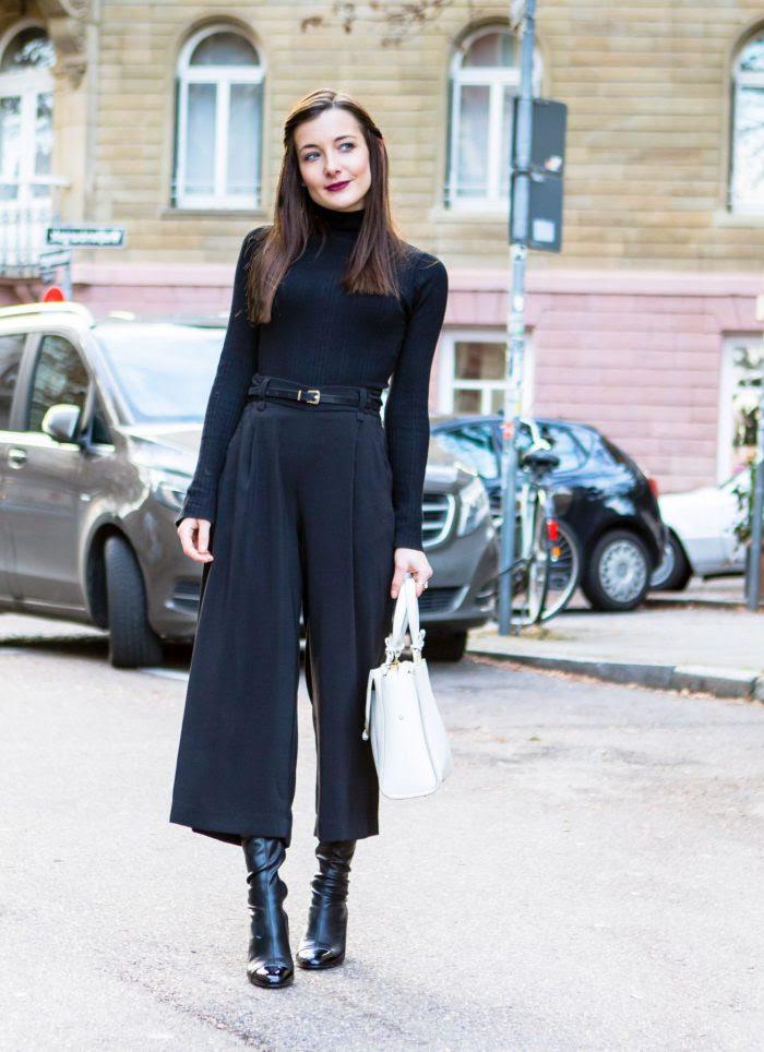 black turtleneck outfits ideas for women 2020