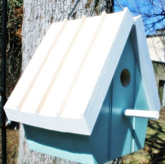 Upcycled Reclaimed Bird House/Nest Box for Bluebird, Chickadee, Nuthatch, Titmouse or Carolina Wrens, bird, bird lovers, love birds, eggs, egg, nesting, nest, home, sweet home, home decor, house decor, wall decor, Great gift for your Birder friends