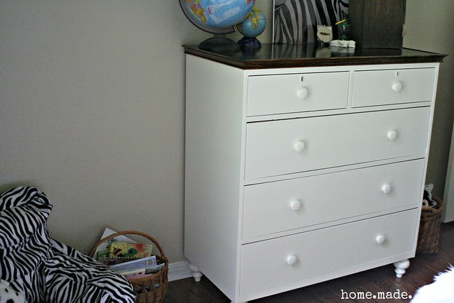 home.made. White and Wood Dresser