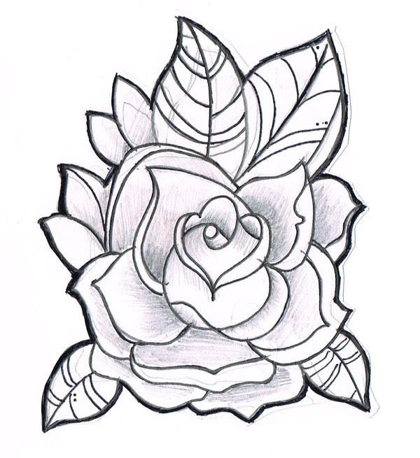 Free Line Drawing Of A Rose Download Free Clip Art Free Clip Art On Clipart Library