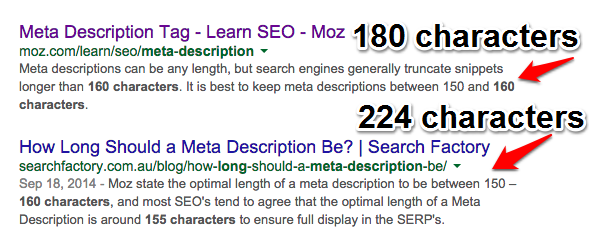 Longer Meta Descriptions