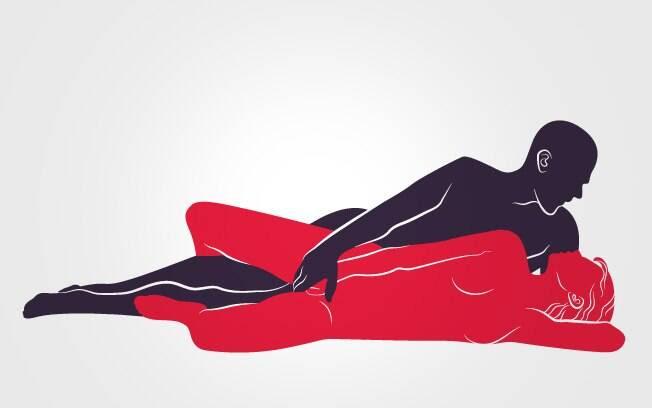 50. POSIÇÃO RELAXADA: Ela recebe estimulação no clitóris enquanto ela roça por trás . Foto: Renato Munhoz (Arte iG)