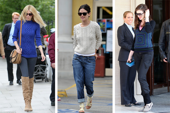 Da esquerda, Claudia Schiffer, Rachel Bilson e Anne Hathaway.