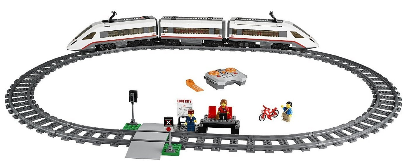 Image Lego City Passenger Train High Speed Cars Download
