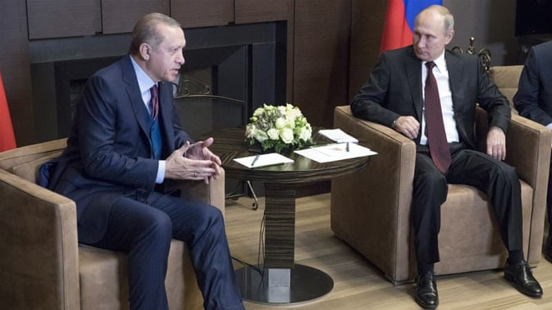 Erdogan calls on Russia, US to pull troops out of Syria
