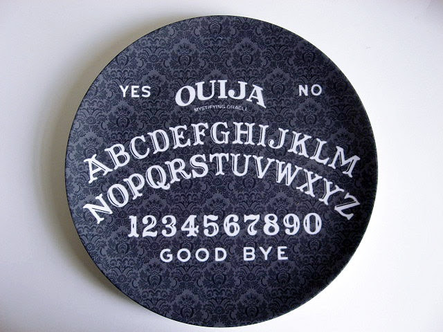 Ouija Board - Decorative Plate - Melamine - Dinnerware - Occult. $16.00, via Etsy.