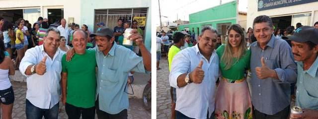 Vereador Holderlin e ex-prefeito Marcão prestigiam convenção do PMDB em Jandaíra(fotos: Jadson)