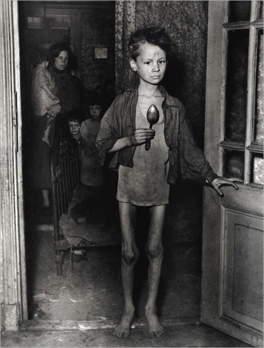 Boy during Dutch hunger winter