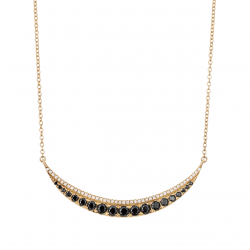 Diamond and Black Spinel Necklace