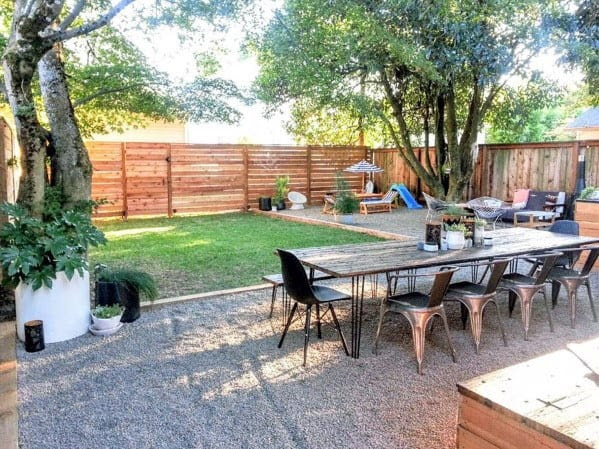Top 40 Best Gravel Patio Ideas - Backyard Designs