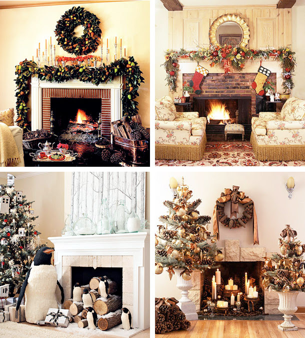 Mantel Christmas Decorating Ideas | Interior Design Ideas