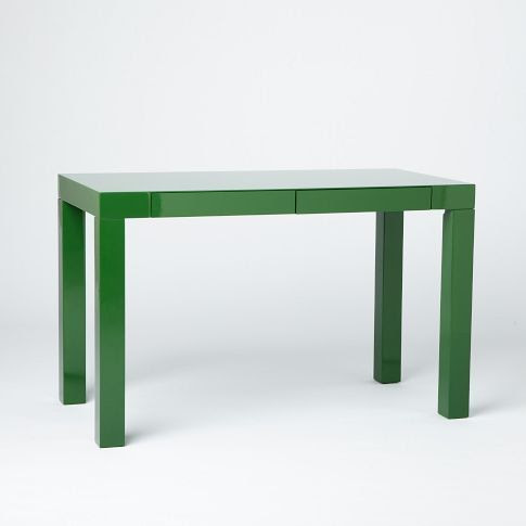 Not next to the jallepeno Living room, but good looking. Parsons Desk with Drawers - Spruce Green | west elm
