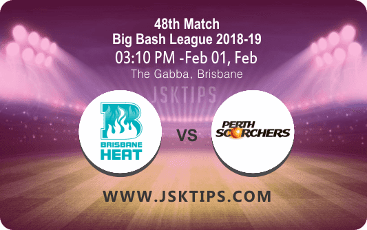 Brisbane Heat vs Perth Scorchers 48th Match Betting Tips