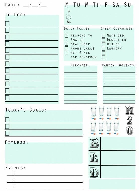 Free Printable daily planner! I now present you with my upgraded ...