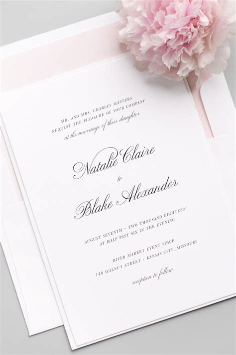 17 Best ideas about Classy Wedding Invitations on