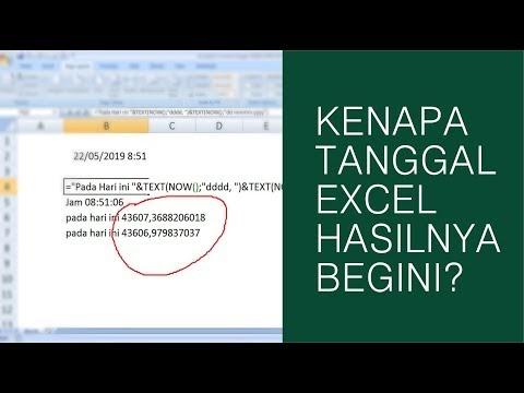 Kenapa Rumus Tanggal di Excel Hasilnya 43606,979837037