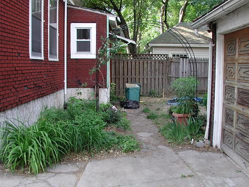 Backyard, view along the back path