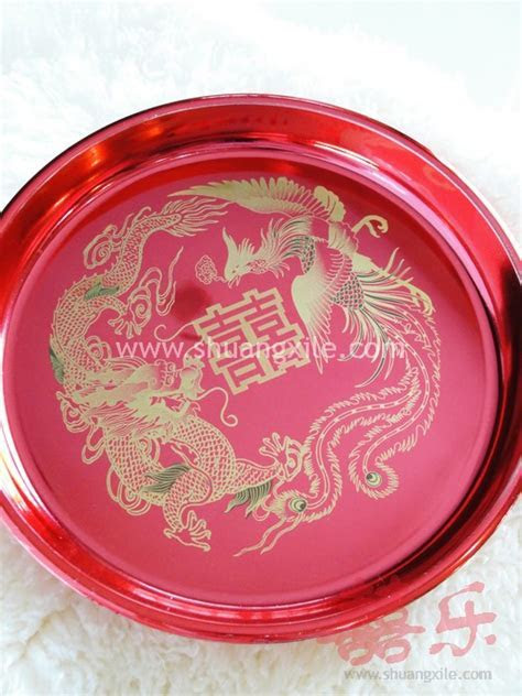Exquisite Dragon Phoenix Wedding Tray ~New!   Bed Setting