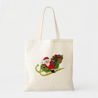 Santa and his Booties on Shopping Bag