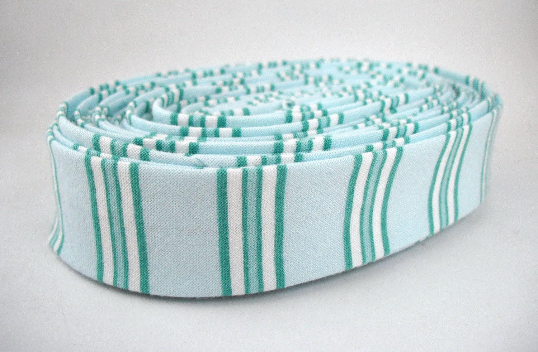 Bias Tape - Bias Stripe in Blue Handmade Double Fold Bias Tape, 3 Yards