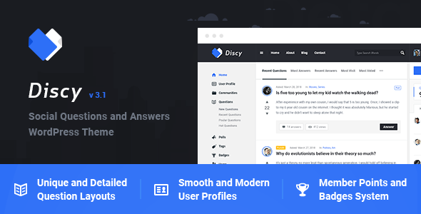 Discy v3.6 - Social Questions and Answers WordPress Theme