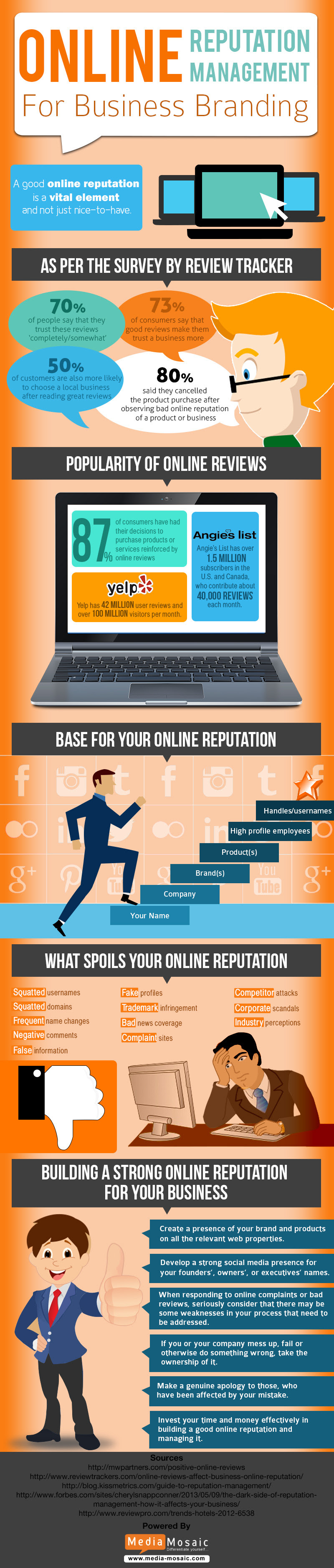 Infographic: Online Reputation Management for Business Branding