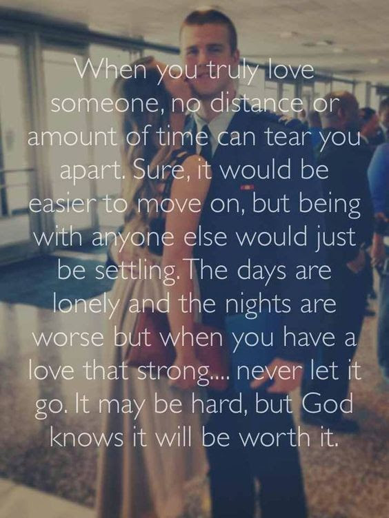 When You Truly Love Someone No Distance Or Amount Of Time Can Tear