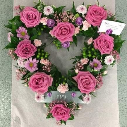 Funeral Loose Open Pink Rose Heart Perfect Flowers