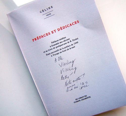 Préfaces et dédicaces