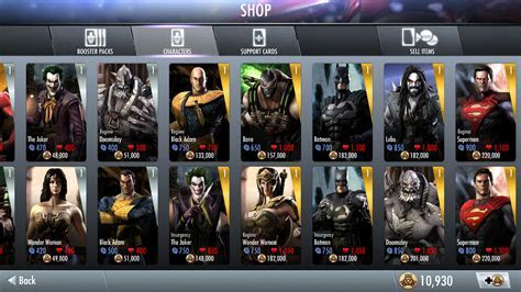 Injustice Gods Among Us Characters   Android Red