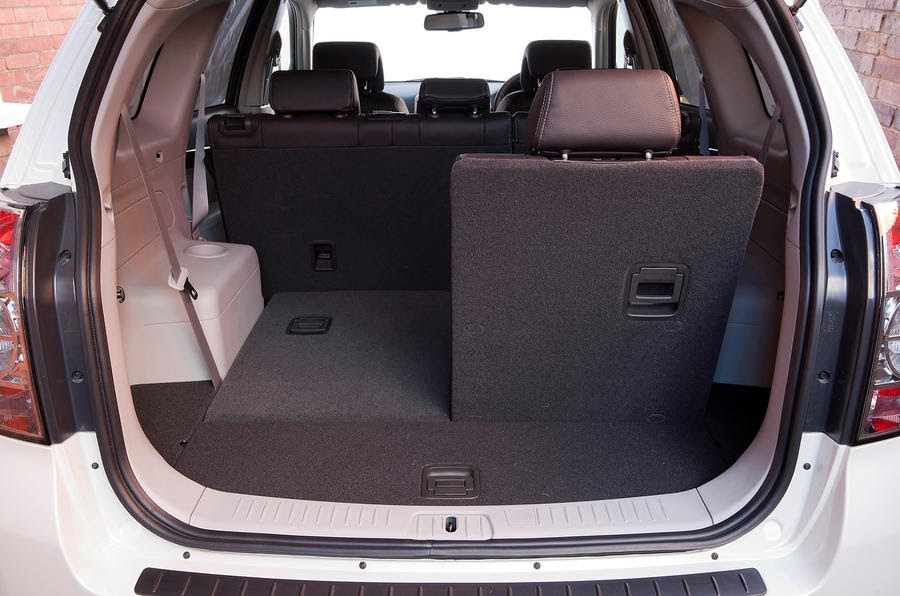 The rearmost seats appear from the boot floor, much like the Vauxhall ...