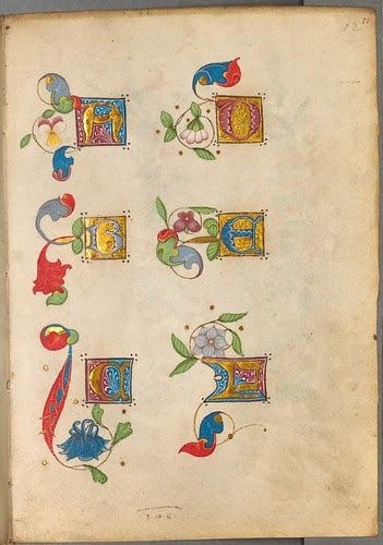 Practice series of illuminated lettrines