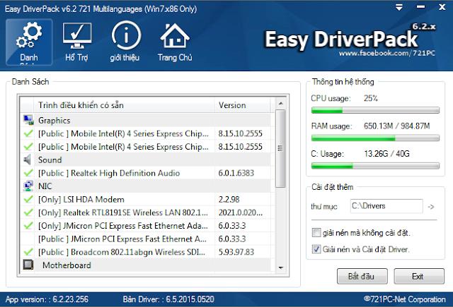 Tải về Easy Driver Pack 6.1 WanDriver