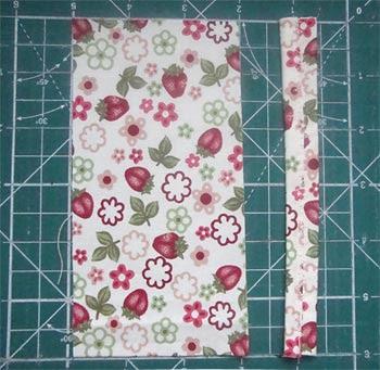 Corte uma tira de tecido para a alça