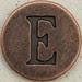 Copper Uppercase Letter E