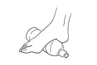 fascite plantar dor alongamento massagem