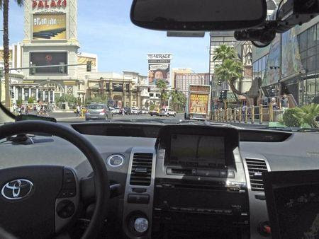 Handout photo of the Google self-driven car in Las Vegas