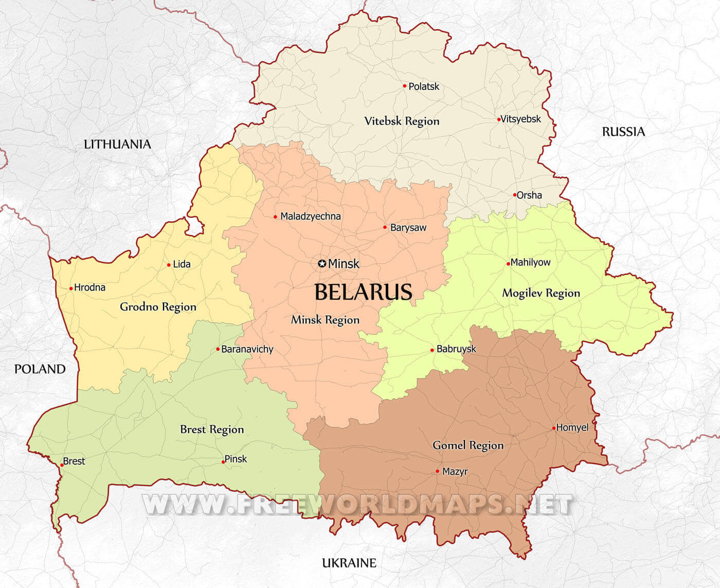 Belarus Maps - by Fr