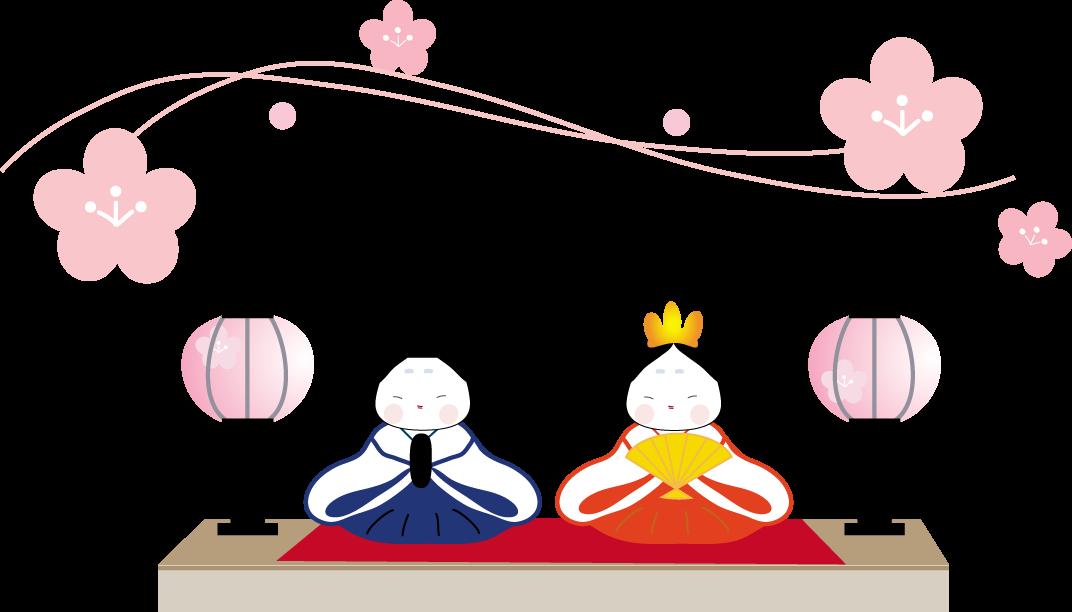 ひな祭りおひなさまのイラスト 無料イラスト